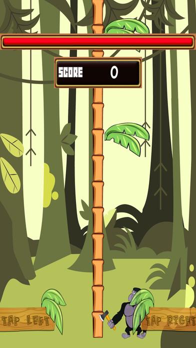Tree Chopper King Kong - Banana Monkey Wood Cutter Screenshot on iOS