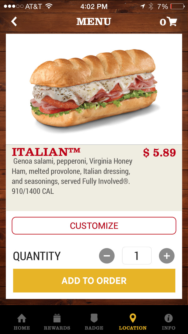 Firehouse Subs App Screenshot