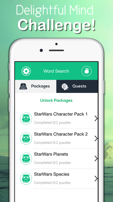 Word Findr - Star Wars WordSearch Edition Screenshot on iOS