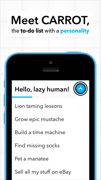 CARROT To-Do - Talking Task List Screenshot