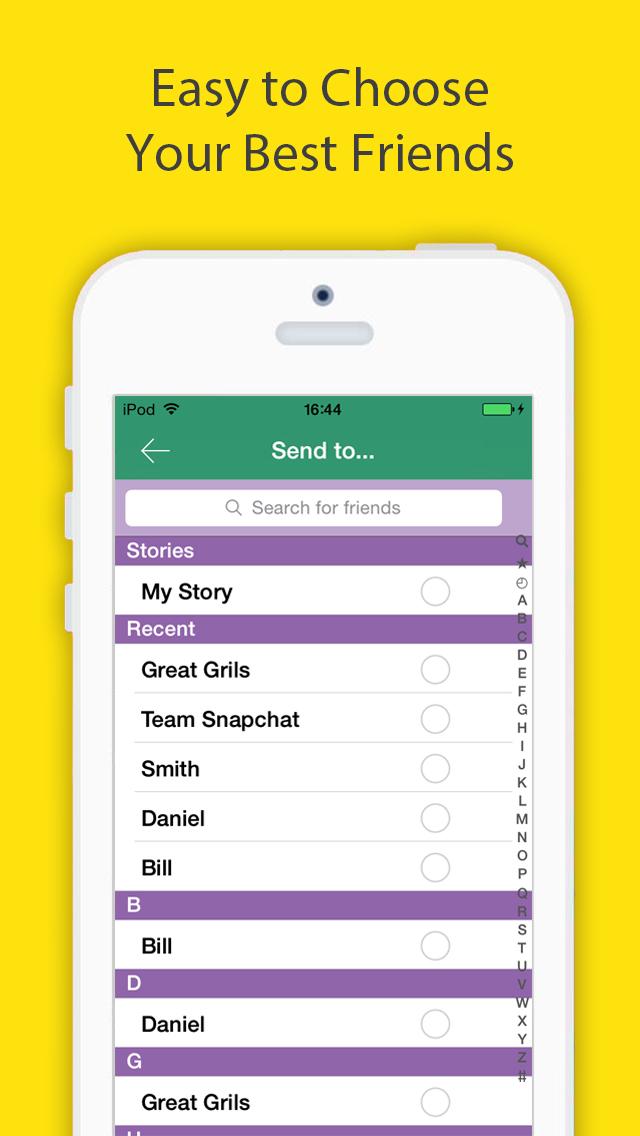 Snap Upload for Snapchat - Send Photos & Videos Screenshot