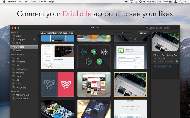 Inboard - Image, Screenshot and Photo Organizer Screenshot