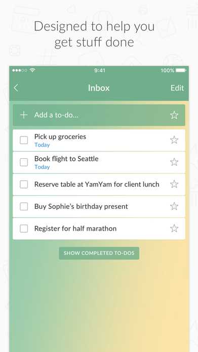 Wunderlist: To-Do List & Tasks Screenshot