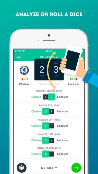 Underdog — free soccer predictions game by Sports ru LLC
