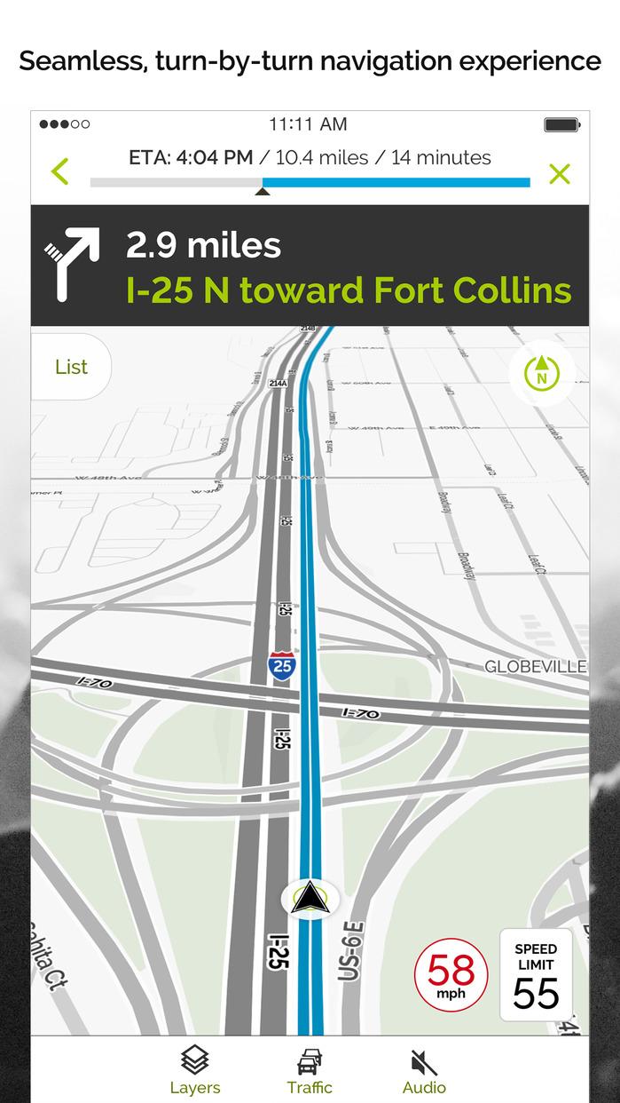 MapQuest: Navigation, GPS, Maps & Traffic Screenshot