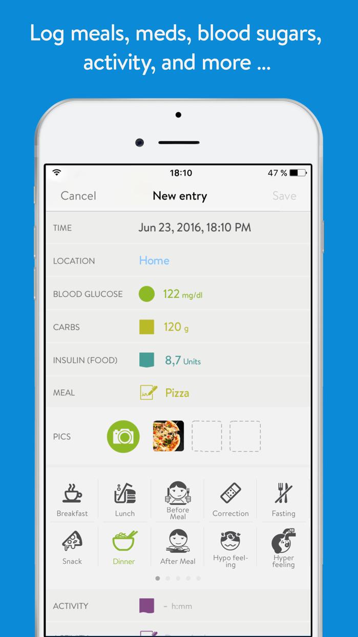 mySugr App: Easy to use daily diabetes logbook Screenshot