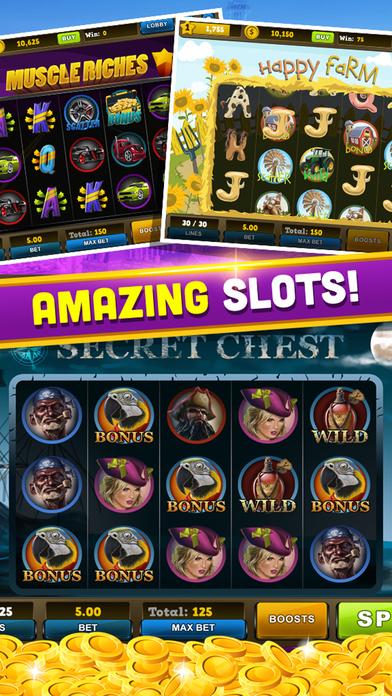 Casino Realistic Slots - Double 777 Bet Simulation Screenshot on iOS