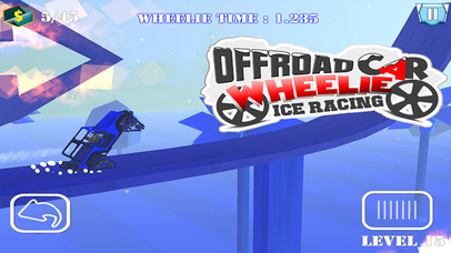 Offroad Car Wheelie Ice Racing - Monster Car Race Screenshot on iOS