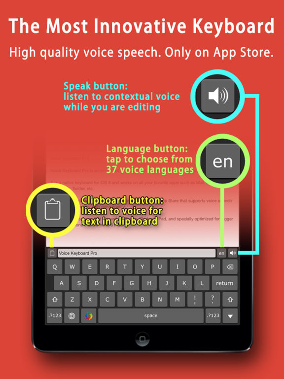 Voice Keyboard Pro™ text to speech & translate app IPA Cracked for