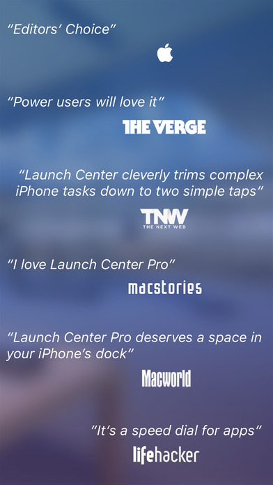 Launch Center Pro - Quick shortcut launcher Screenshot