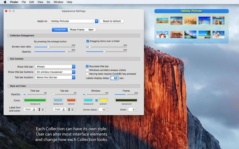 iCollections for Mac