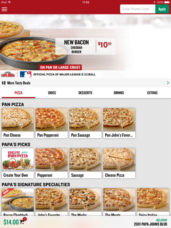 The Papa Johns Pizza Menu. Most pizza chains have focused on cheap prices, but the Papa Johns have tried to differentiate themselves from Dominos and Pizza Hut .