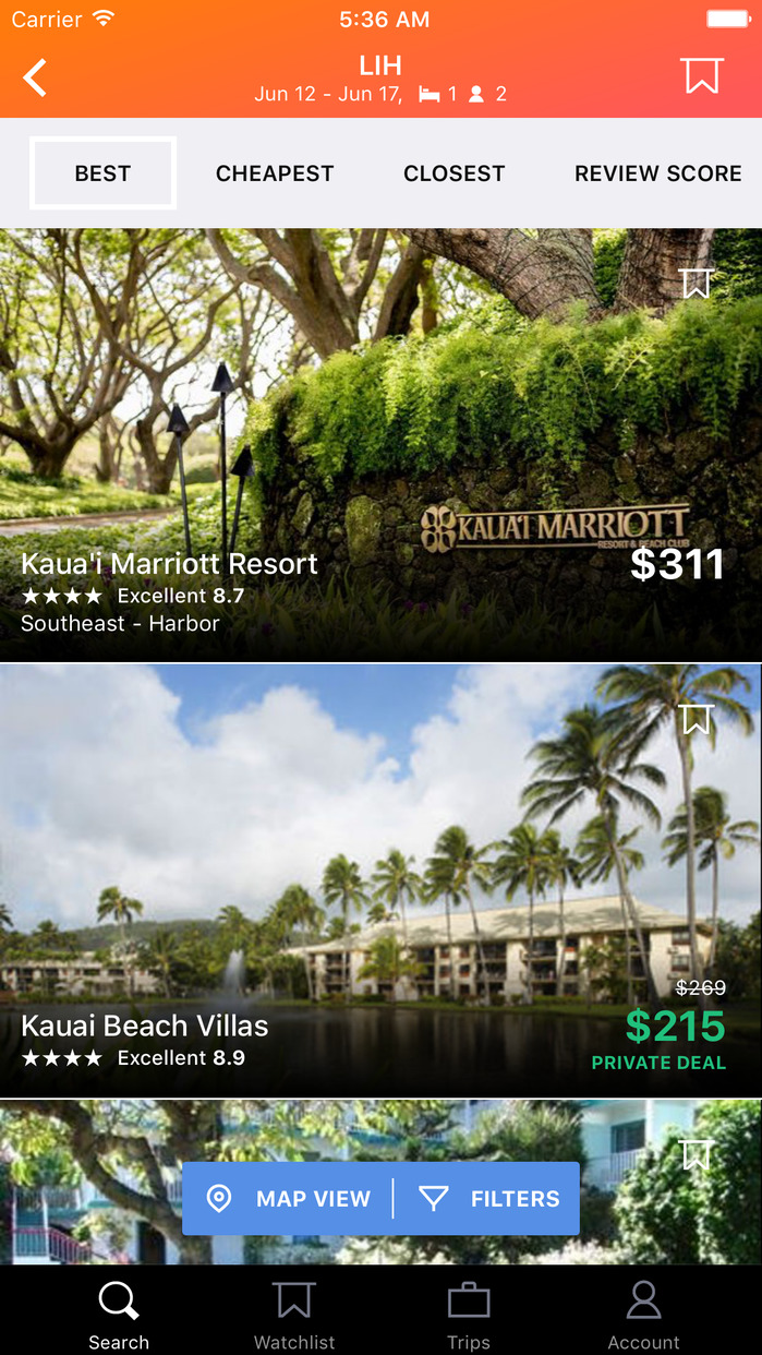 KAYAK Flights, Hotels & Cars Screenshot