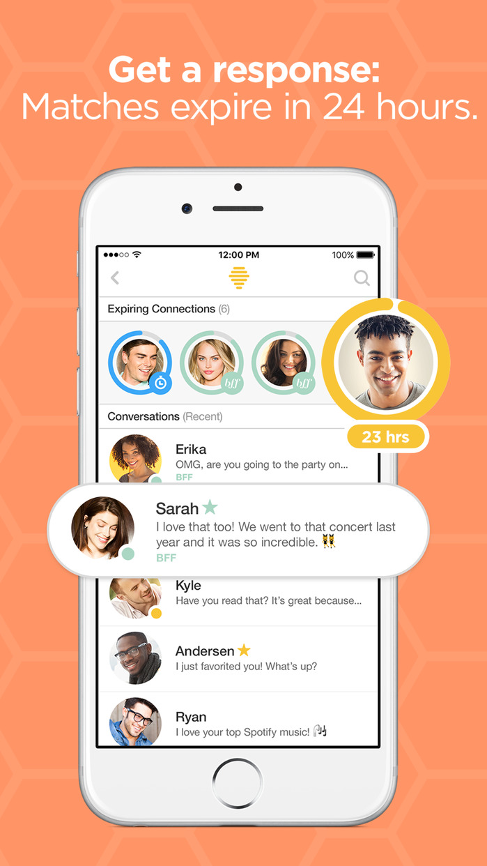 Bumble – Find a Date, Meet Friends & Network Screenshot