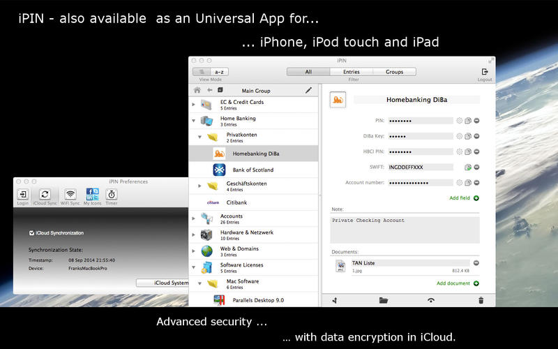 iPIN - Secure PIN & Password Safe DMG Cracked for Mac Free