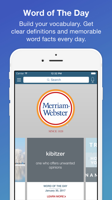 download webster dictionary application