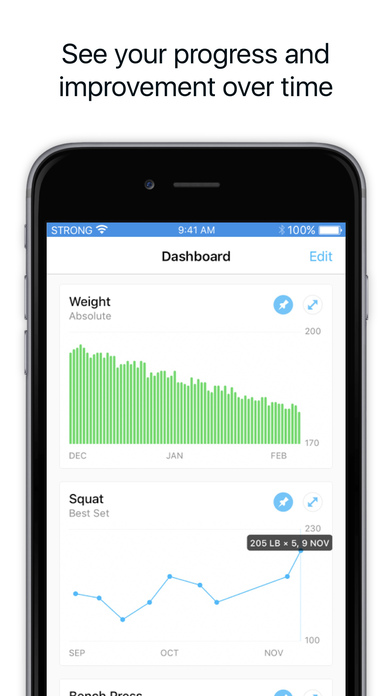 Strong Workout Tracker: Gym Log, Exercise Journal Screenshot