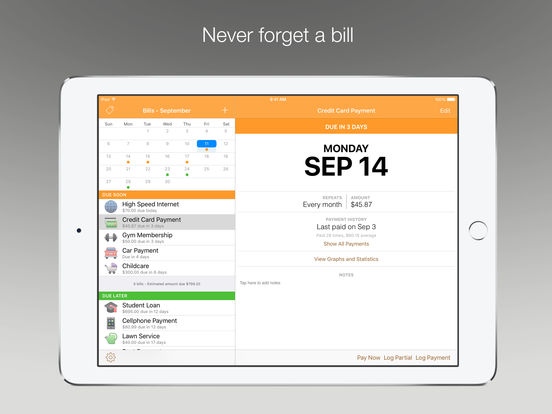 chronicle bill management for ipad