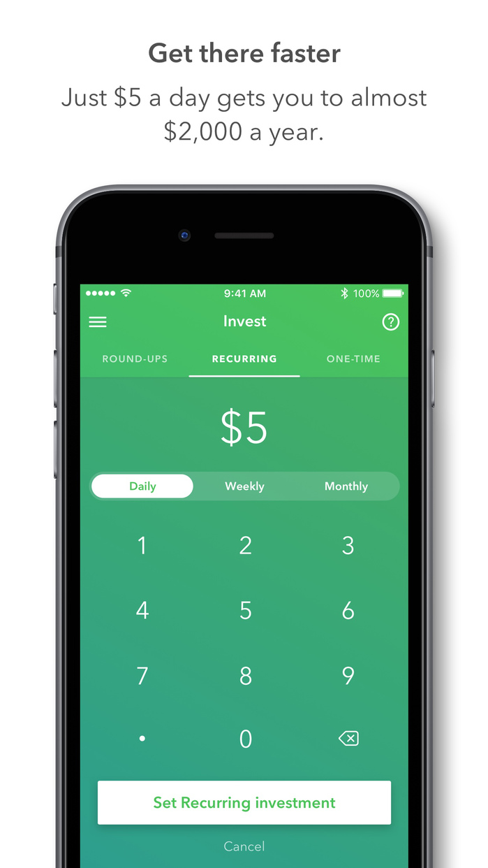 Acorns - Invest Spare Change from Purchases Screenshot