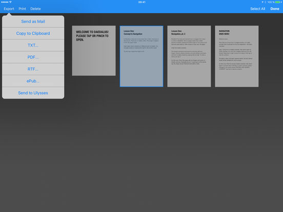 Daedalus Touch – Text Editor for iCloud Screenshot