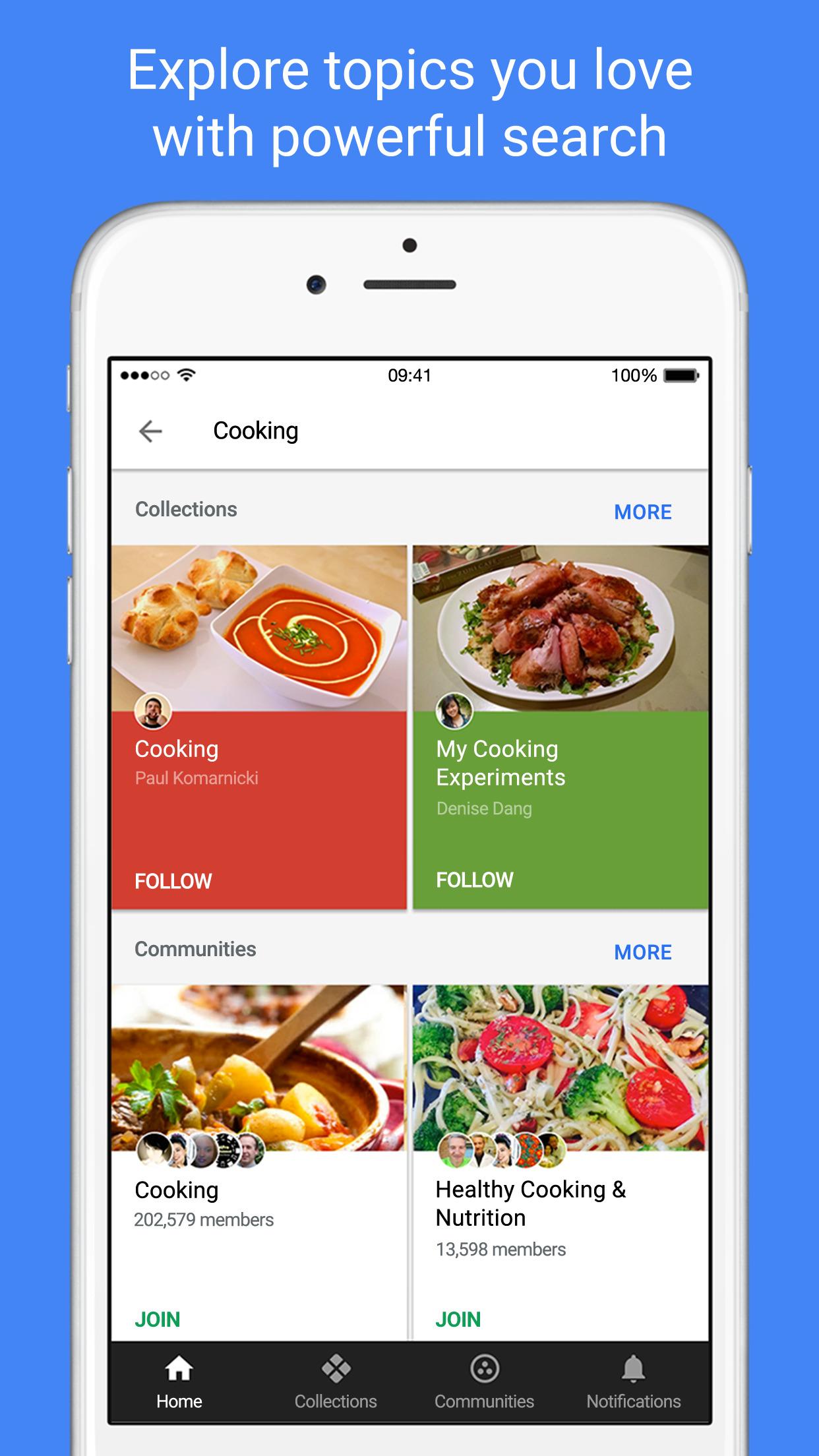 Google+ - interests, communities, discovery Screenshot