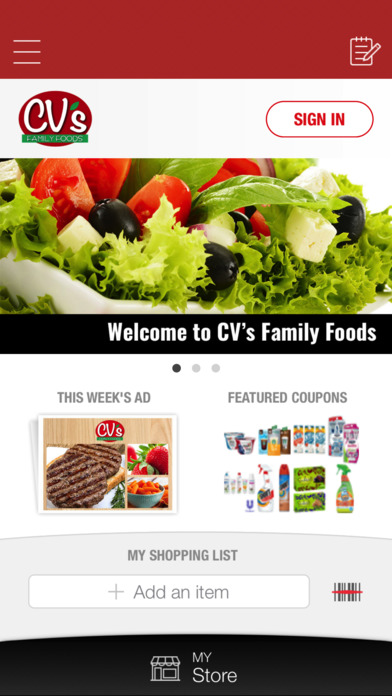 Cv S Family Foods Application