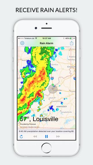 Rain Alarm XT - Rain Alerts and Live Doppler Radar Images Screenshots