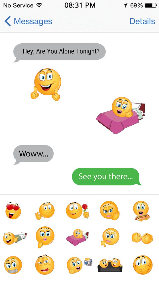Dirty smiley faces for texting