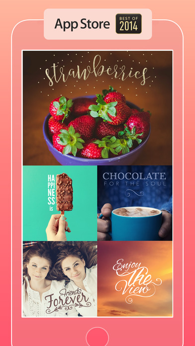 Typic - Beautiful captions and designs over your photos Screenshot