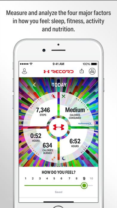 Record by Under Armour, connects with UA HealthBox Screenshot