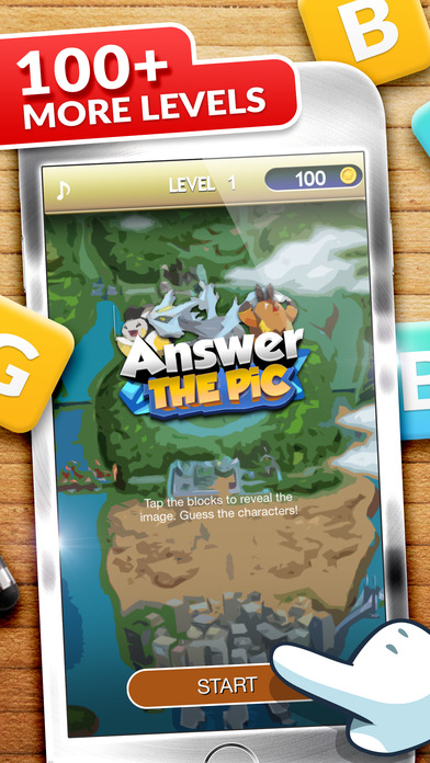 "Answer Puzzle Game Pro ""for Pokemon Black & White"" Screenshot on iOS"