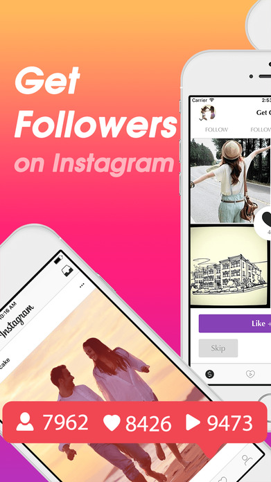 Followers + for Instagram - Get 1000 More Likes, Followers & Video Views on IG Free Screenshot