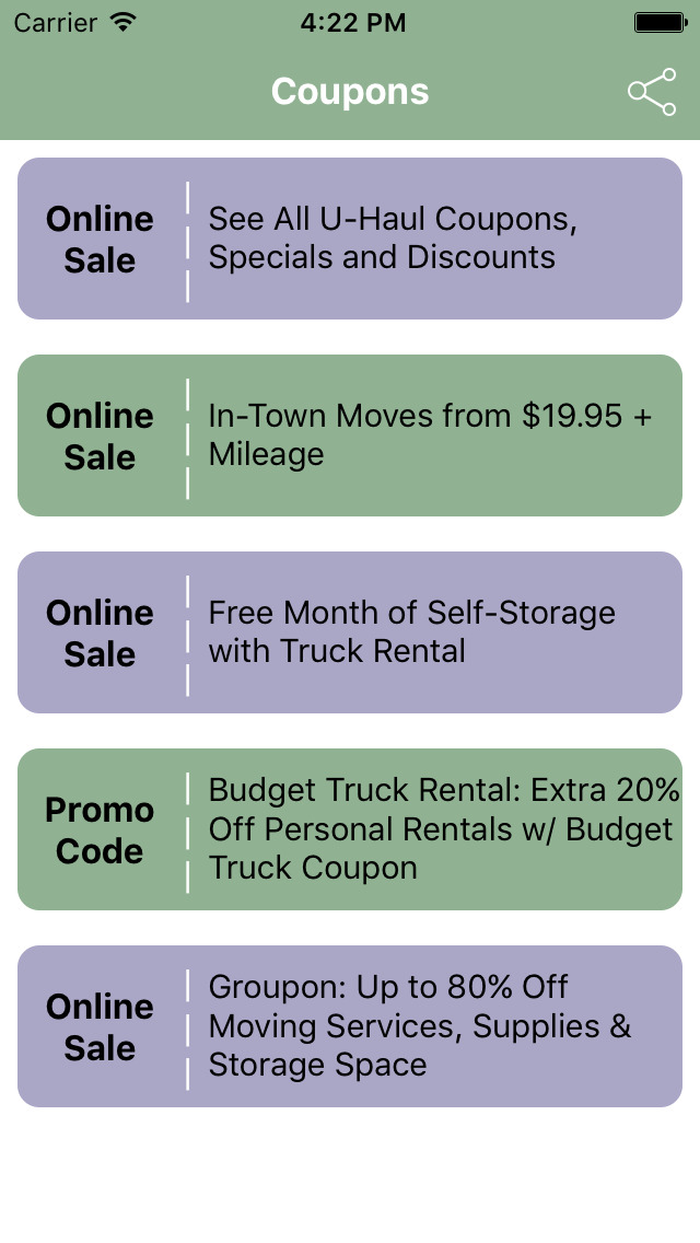 App Shopper: Coupons for U-Haul Service App (Shopping) - photo#21