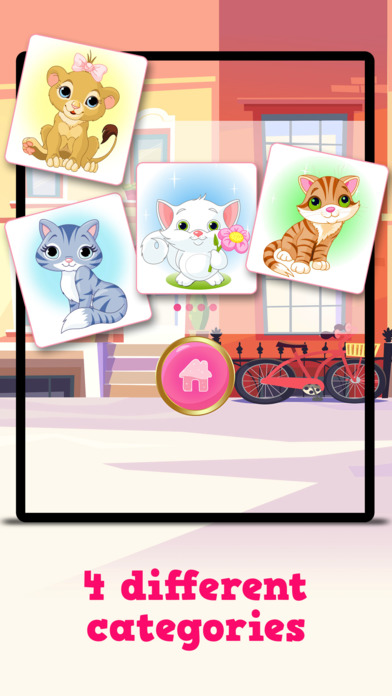 Kitty Cat : Free Matching Games for children, boys and girls Screenshot on iOS
