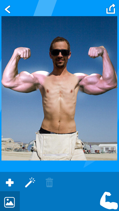 BodyBuilder Camera Stickers! - Get Gym body with biceps and