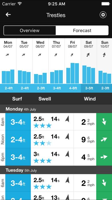 MSW Surf Forecast Screenshot