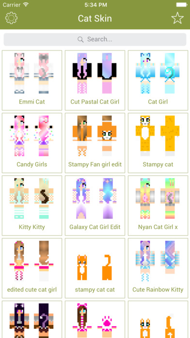 Cat Skins - New Skins for Minecraft PE & PC Screenshot on iOS