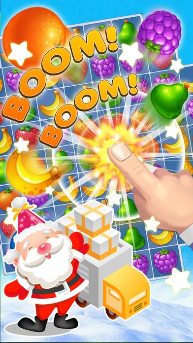 Santa Claus Christmas Fruit Match 3 Challenge Screenshot on iOS