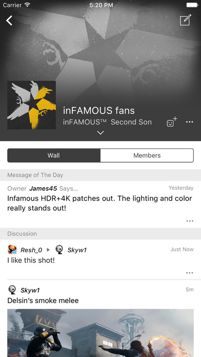 PlayStation Communities Screenshot