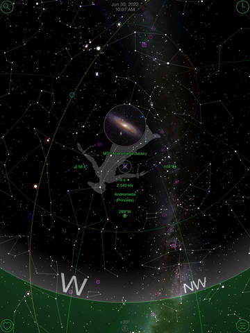 GoSkyWatch Planetarium for iPad - Astronomy Guide to the Night Sky Screenshot