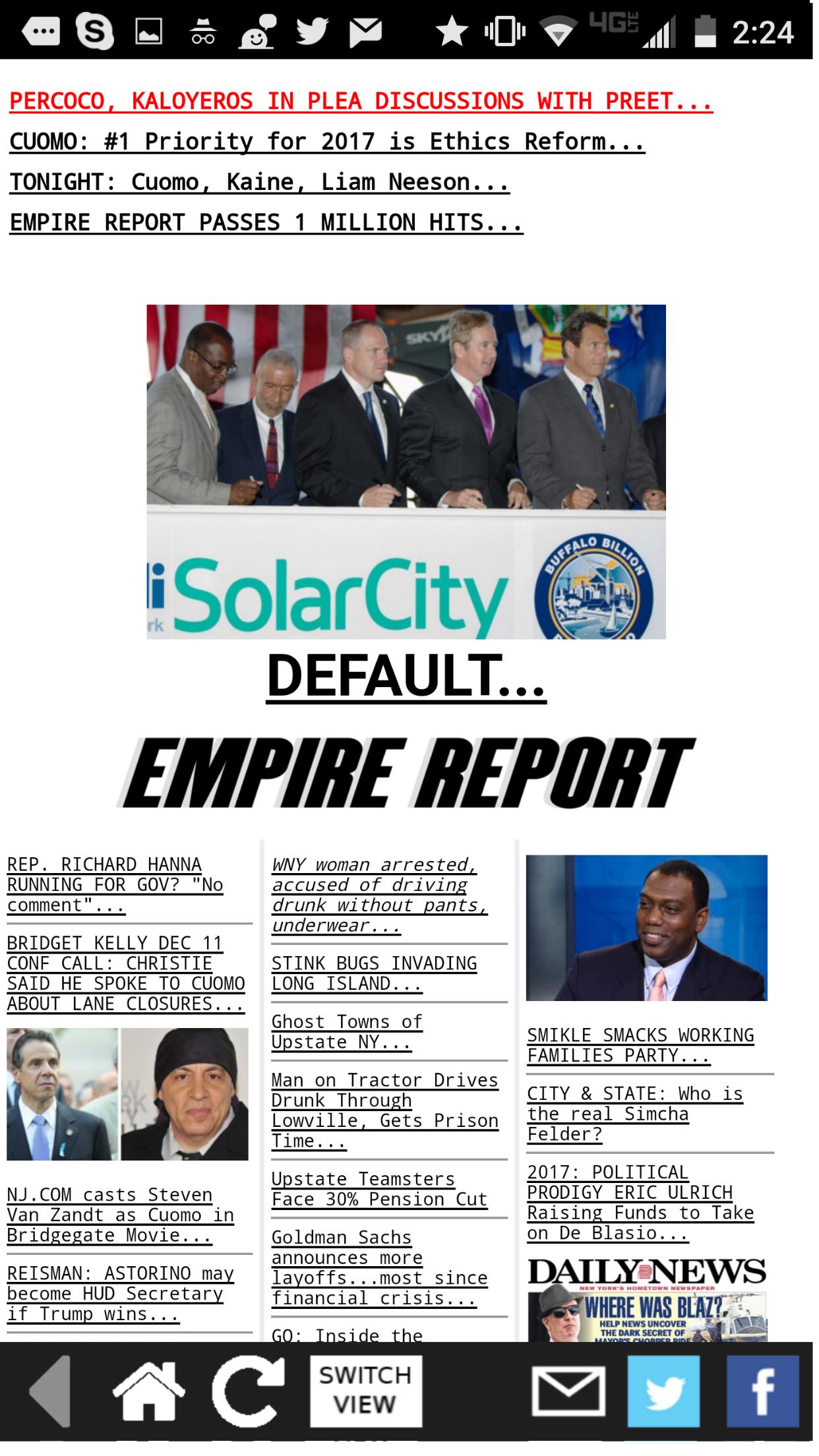 The Empire Report Screenshot