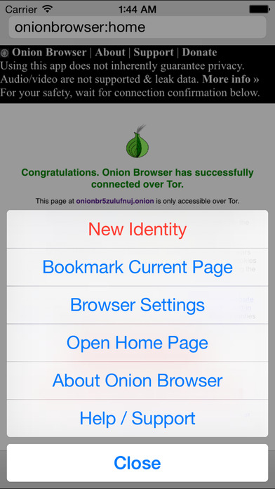 Onion Browser - Secure & Anonymous Web with Tor Screenshot