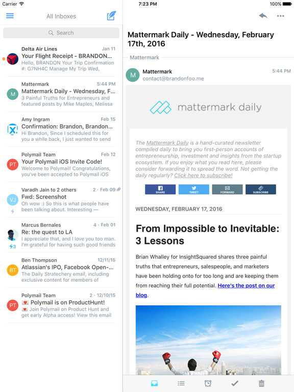 Polymail - Simple, Beautiful, Powerful Email Screenshot