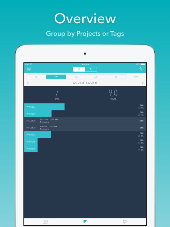 Timesheet - Time Tracking with Calendar Screenshot