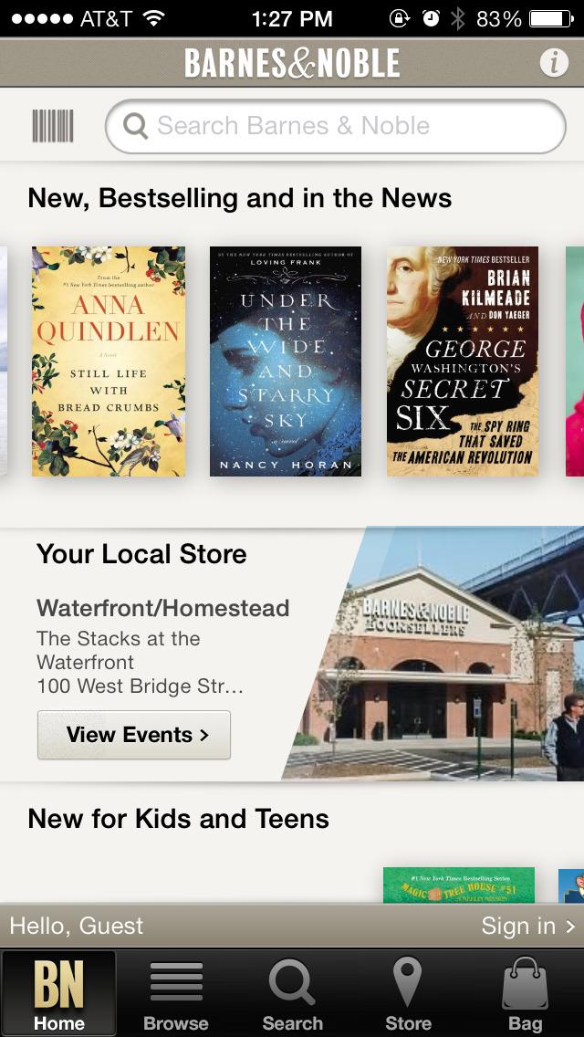 Barnes & Noble Screenshot