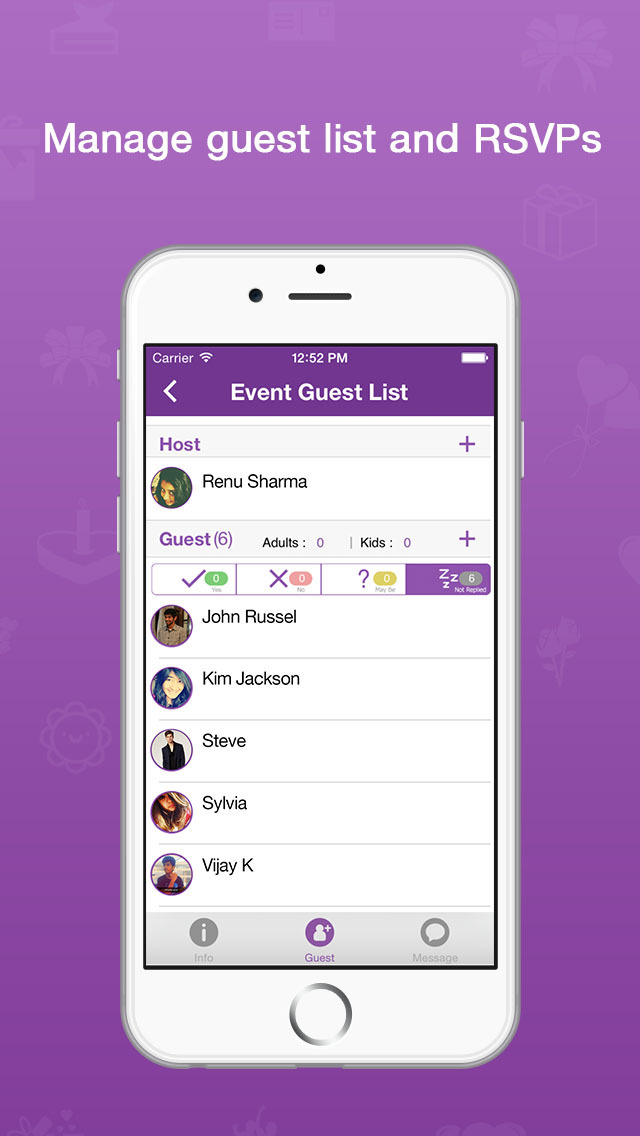PHILDORAs Party Invite PVITE Send Invitations To Host Events Like Baby Shower
