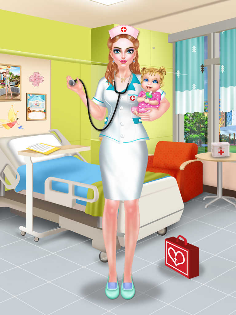Baby Bedroom Dress Up Games: App Shopper: Nurse & Newborn Baby