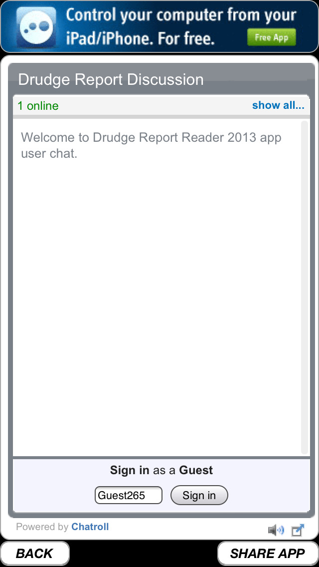 Drudge Report 2014 Free | FREE iPhone & iPad app market