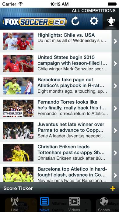 FOX Soccer 2Go Screenshot