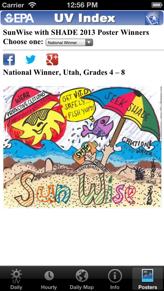 скачать EPA's SunWise UV Index App Store softwares